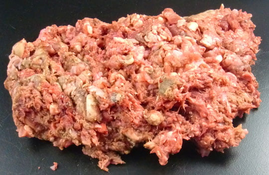 chicken tripe mince, raw dog food, the dogs butcher