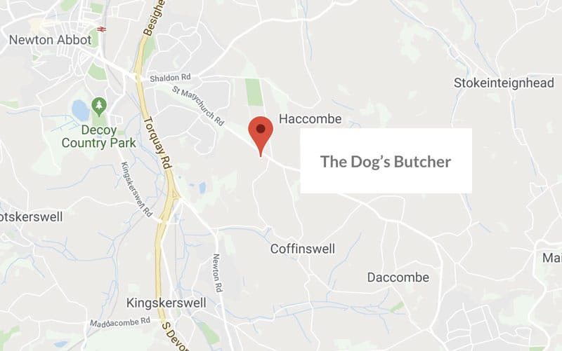 location, the dogs butcher, newton abbot, devon